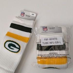 NFL Team Apparel GREENBAY PACKERS Socks Unisex New